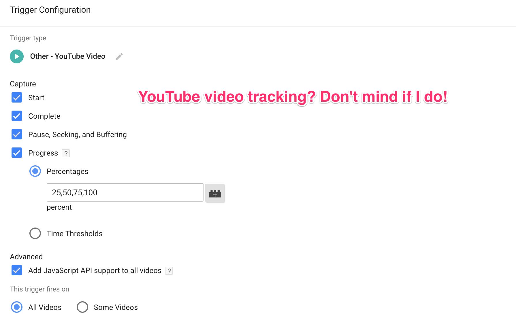 The YouTube Video Trigger in Google Tag Manager | Simo ...