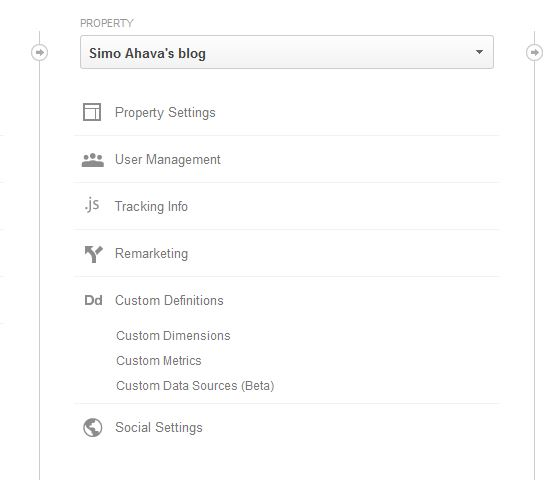 Create new Custom Dimension in Google Analytics