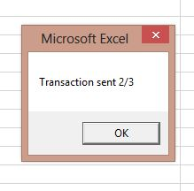 Transaction sent
