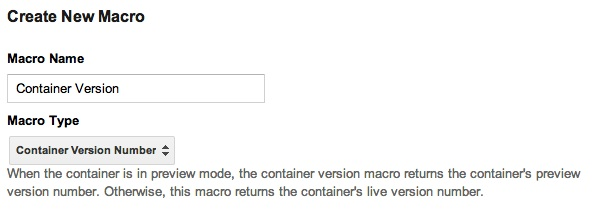 Container version number