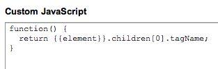 Custom JavaScript Macro