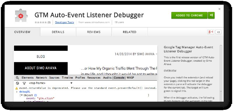 Debugging Auto-Event Tracking in GTM | Simo Ahava's blog