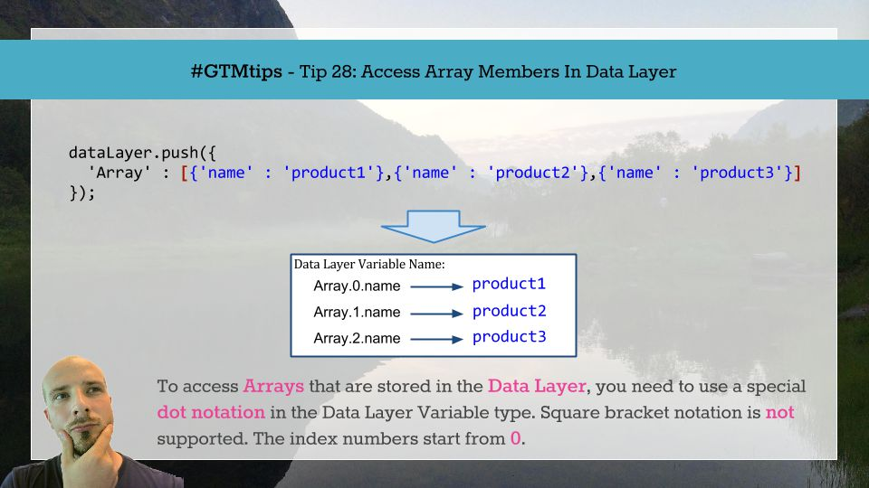 GTMTips: Access Array Members In The Data Layer | Simo Ahava's blog