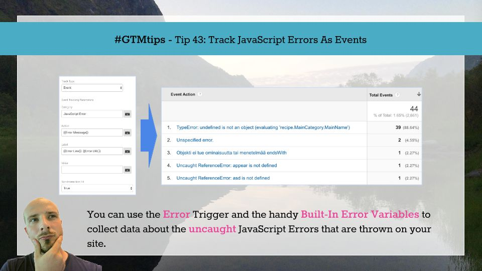 GTMTips: Track JavaScript Errors As Events | Simo Ahava's blog