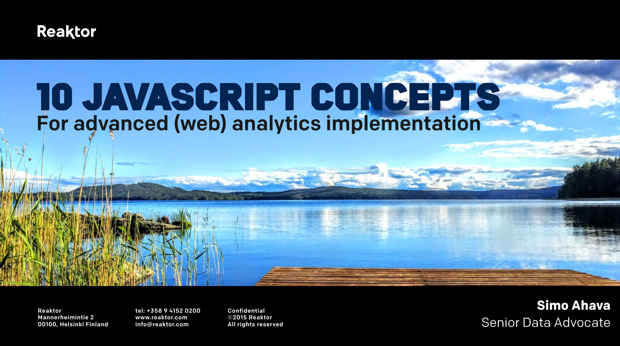 10 JavaScript Concepts For Web Analytics Implementation | Simo