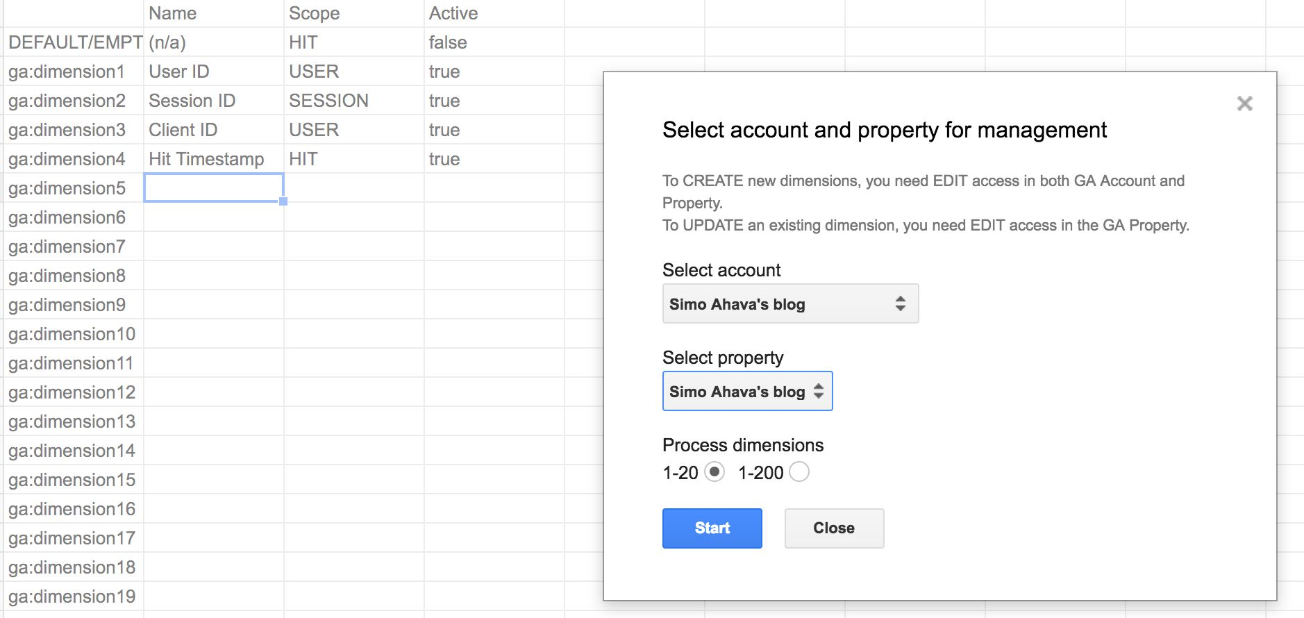 Custom Dimension Manager For Google Analytics | Simo Ahava ...