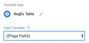 The RegEx Table Variable In Google Tag Manager | Simo