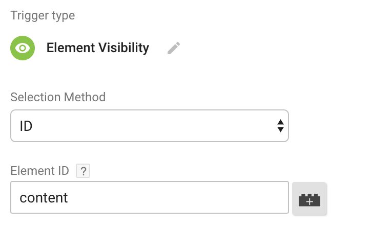 The Element Visibility Trigger In Google Tag Manager | Simo Ahava's blog