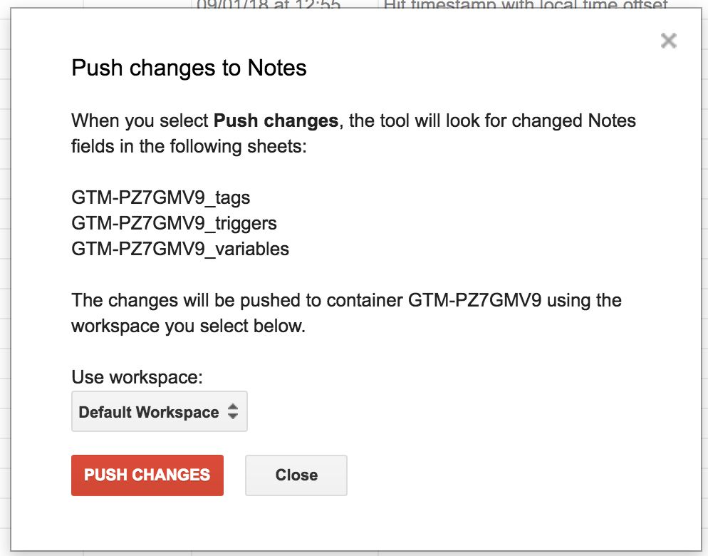 M Update Changes To Notes In Your Gtm Containers