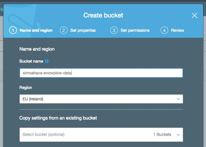 create root bucket in S3