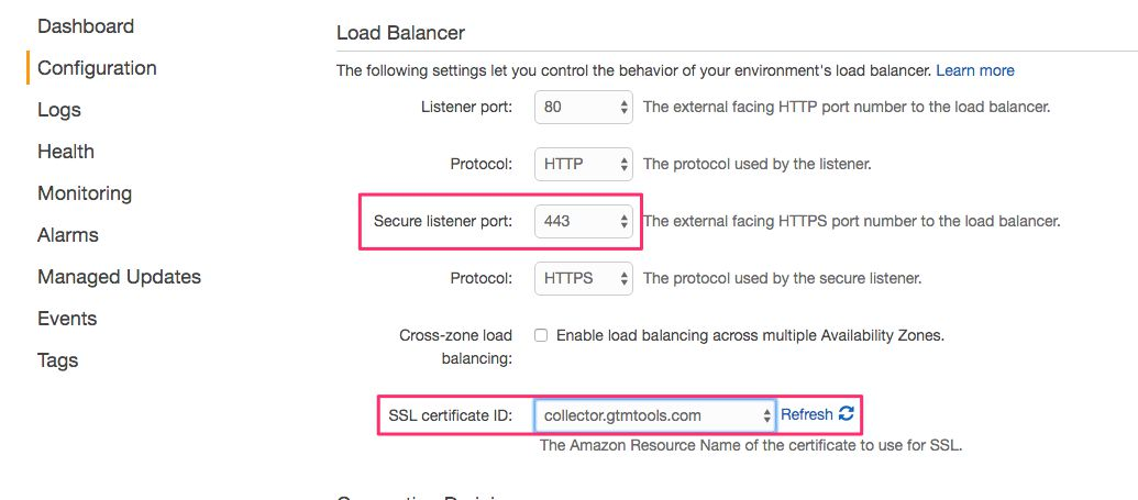 HTTPS for load balancer
