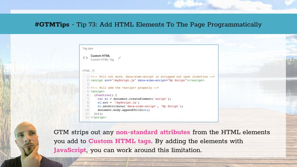 GTMTips: Add HTML Elements To The Page Programmatically