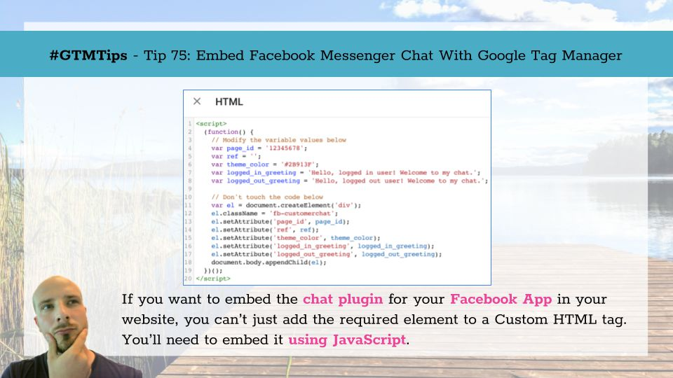 GTMTips: Embed Facebook Messenger Chat With Google Tag