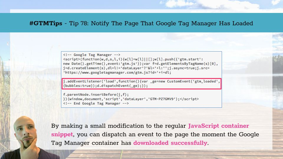 GTMTips: Notify The Page That Google Tag Manager Has Loaded | Simo