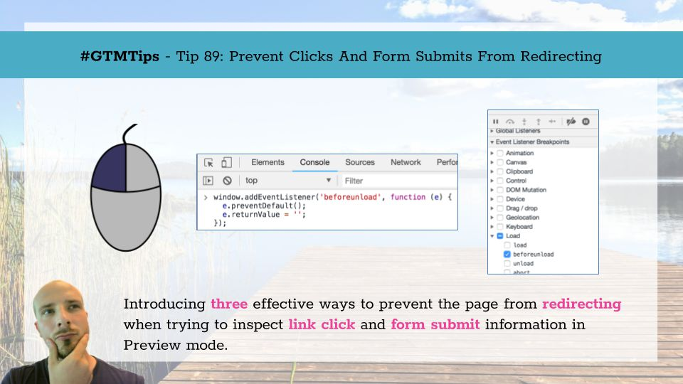 GTMTips: Prevent Clicks And Form Submits From Redirecting