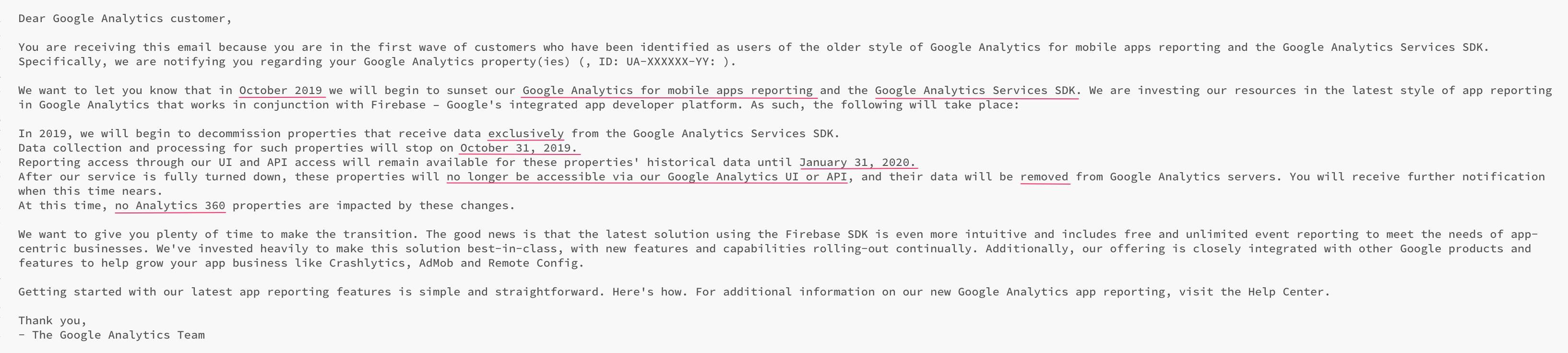 Google Analytics For Mobile Apps Getting Shut Down | Simo