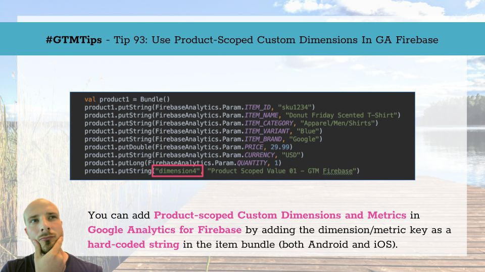 GTMTips: Use Product-scoped Custom Dimensions In GA Firebase | Simo