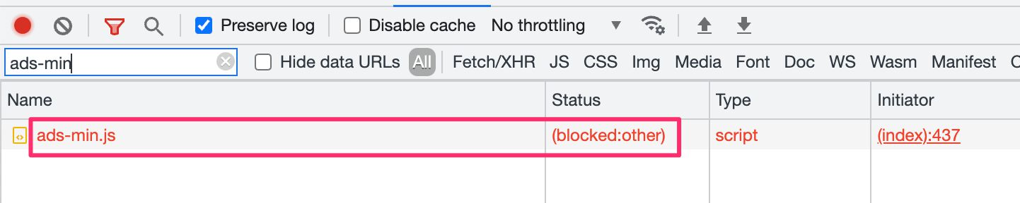 ads-min.js is prohibited